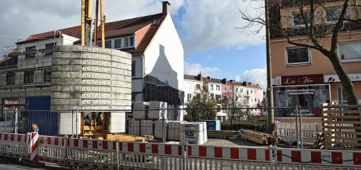 Baustelle an der Hemmstraße in Bremen Findorff. Foto: WR