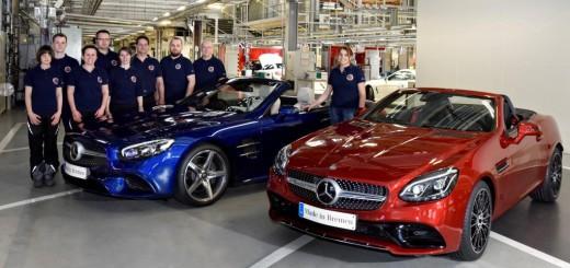 Mercedes-Benz Werk Bremen startet Produktion der neuen Roadster SL und SLC