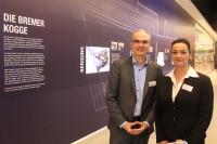 Center Managerin Marion Bergmann und Andreas Blum von Metro Properties im neuen Einkaufszentrum, das ein maritimes Thema hat.