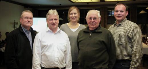 Der Vorstand des Vereins IGB212neu e.V (von links): Jürgen Wappler (Kassenwart), Uwe Kroll (1. Vorsitzender), Britt Rose (Schriftführerin), Jan Buscher (2. Vorsitzender), Wolfgang Brandt (Beisitzer). Foto: Eckert