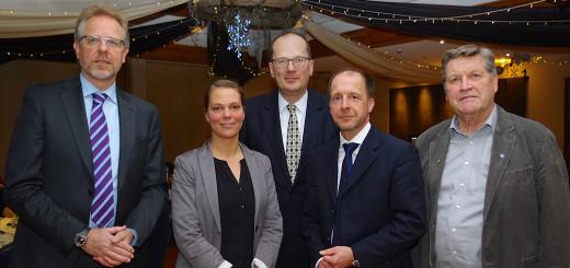 Der Vorstand des Fördervereins der Örtlichen Wirtschaft Delmenhorst mit Citymanagerin Angela Bartelt