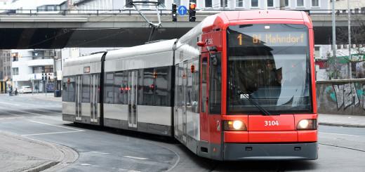 Straßenbahn der Linie 1 in Bremen. Foto: WR