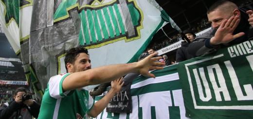 Mit neun Treffern ist Werder-Stürmer Claudio Pizarro der erfolgreichste Torjäger der Bundesliga-Rückrunde. Foto: Nordphoto