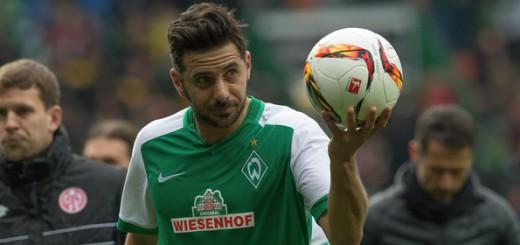 Claudio Pizarro erzielte gegen Mainz sein 101. Tor im Dress von Werder. Foto: Nordphoto