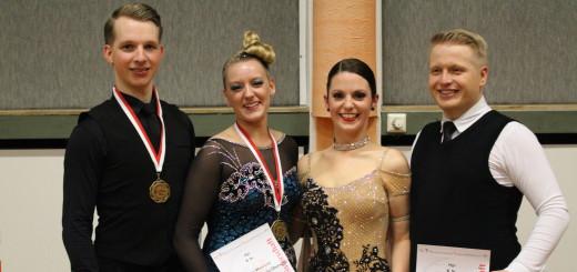 Kevin Weinhold, Nicki-Liane Gallbrecht-Überschär, Kirsten Kranz und Sascha Sülwald traten bei der Landesmeisterschaft für den TV Jahn an.
