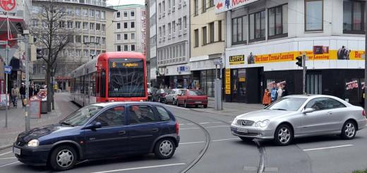 Verkehrschaos in der Bremer City
