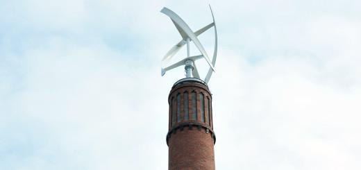 Die Windkraftanlage auf dem Schlachthof. Foto: WR