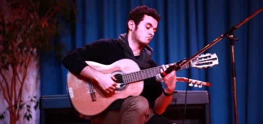 Gastiert im Bürgerhaus Hemelingen: Gitarrist Aladdin Al Haddad Foto: pv
