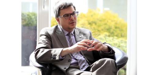 Christian Leuprecht ist noch bis Mai Fellow am Hanse-Wissenschaftskolleg und befasst sich hier mit sicherheitspolitischen Problemen.Foto: Eckert