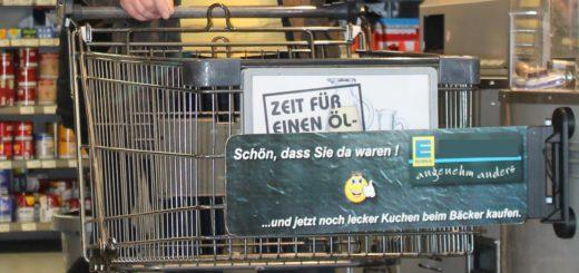 Diskretionsschranke beim Einkaufen. Foto: Füller