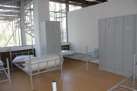 Die Betten in der neuen Unterkunft. Foto: Füller