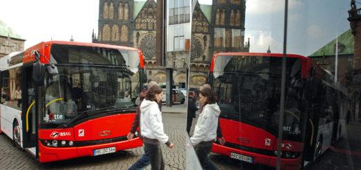 Solaris Bus BSAG Marktplatz, Foto: WR