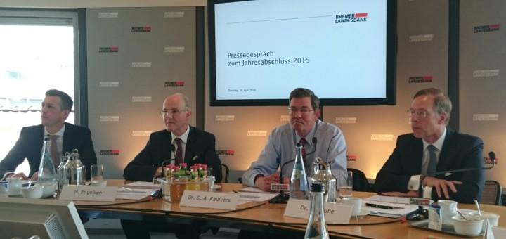 Die Bremer Landesbank stellt ihren Geschäftsbericht vor. Foto: WR