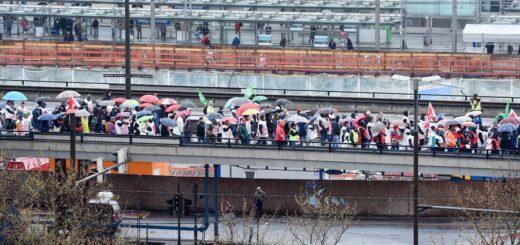 Warnstreik Verdi, Hochstraße, Foto: Schlie