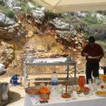 Griechische Ostern Lammspieß Foto Kaloglou