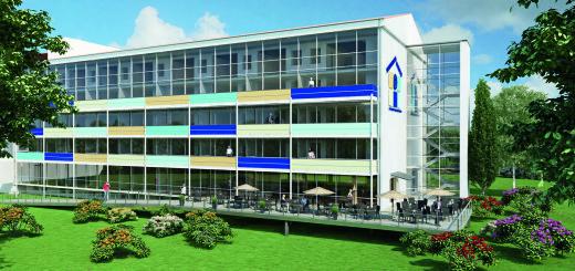 So in etwa soll das neue Stadtteilhaus Huchting nach der Sanierung aussehen. Im Erdgeschoss des Altenheims ist ein Restaurant geplant