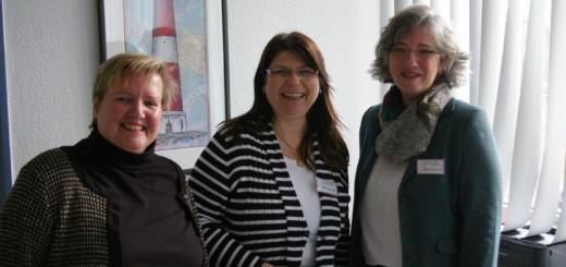 Doris Fuhrmann, Gabi Baumgart und Saskia Kamp organisieren die Flüchtlingsarbeit der AWO Delmenhorst