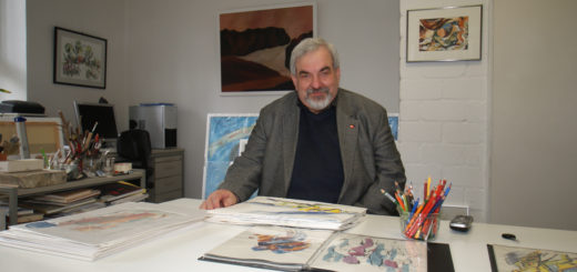 Erhard Kalina ist über 30 Jahre als Künstler in Worpswede selbstständig und setzt sich als Mitglied des Berufsverbandes Bildender Künstler für eine bessere Vergütung fürs kreative Schaffen ein. Foto: Möller
