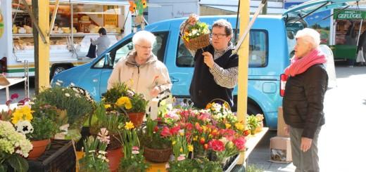 Der Wochenmarkt in Arsten bekommt von Kunden und Händlern nach einem Jahr ein positives Fazit. Foto: Niemann