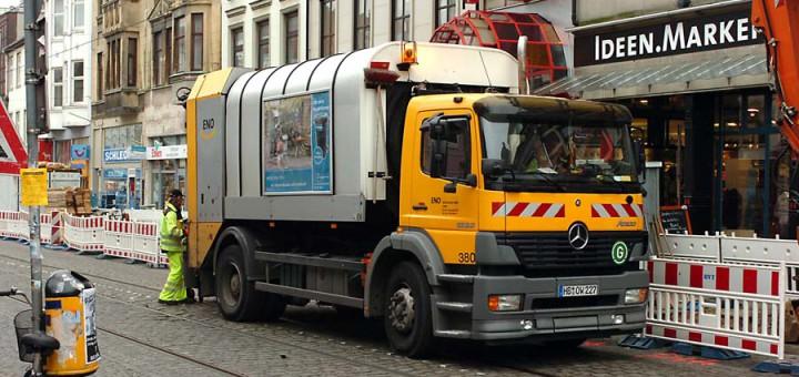 Die Müllabfuhr streikt. Müll Foto: WR