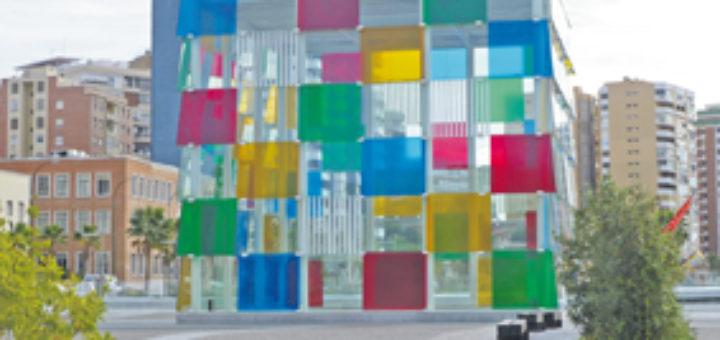 "Centre Pompidou Málaga: Im ""Kubus"" gibt es Kunst. Foto: Kaloglou"