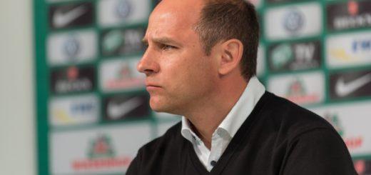 Werder-Trainer Viktor Skripnik hofft für das Nordderby auf eine erneute gute Leistung seines Teams. Foto: Nordphoto