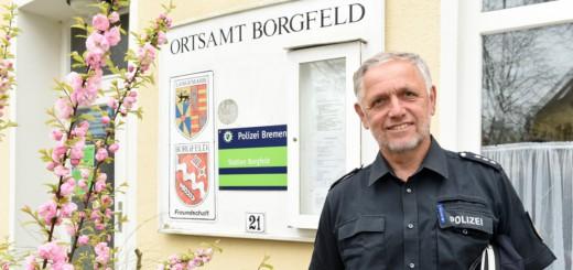 Viele Bremer Kontaktpolizisten gehen in den nächsten drei Jahren in Pension - unter anderem auch Herbert Ößelmann aus Borgfeld. Foto: Schlie