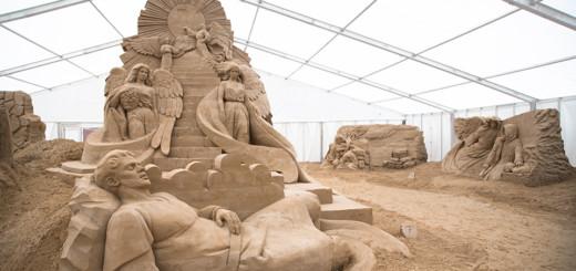 Ein Meisterwerk aus SandFoto: Sandskulpturen Festival Usedom