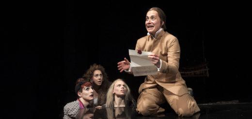 Zwischen Witz und (Größen-)Wahnsinn: Petra-Janina Schultz in der Rolle des Malvolio.Foto: Marianne Menke