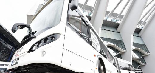 Das ist der Prototyp des Elektrobusses, der demnächst durch den Bremer Verkehr rollt.