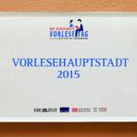 Vorlesehauptstadt - Plakette