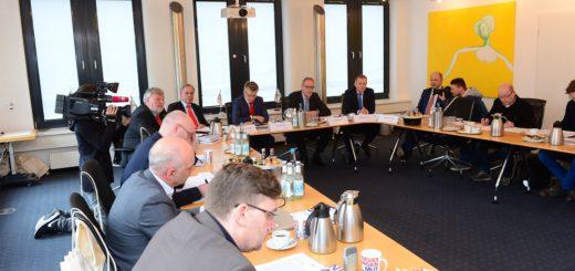 Die Pressekonferenz, auf der die BLG ihre Ergebnisse vorstellt. Foto: BLG