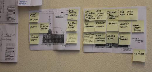 """Noch ist nicht alles fertig: Hier finden sich noch INformationen zum """"Auswärtsspiel Blumenthal"""", die bis Anfang Juni umgesetzt werden müssen. Foto: Füller"""