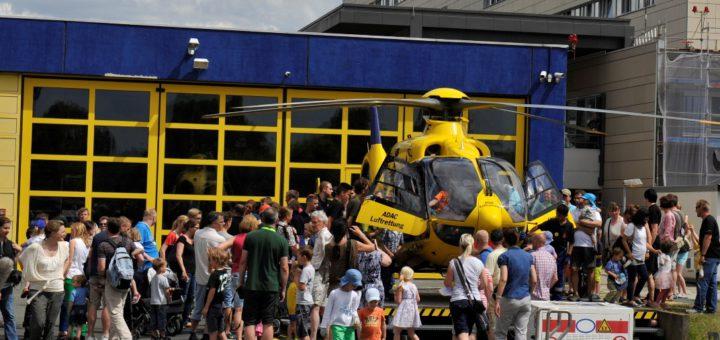 Die Starts und Landungen der Rettungshubschrauber gehören traditionell zu den Höhepunkten beim Tag der Sicherheit am Klinikum Links der Weser.Foto: pv