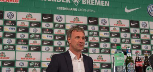 Marco Bode erklärte auf einer Pressekonferenz die Entscheidung, Geschäftsführer Thomas Eichin zu feuern. Foto: Nordphoto