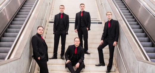 Das Ensemble Nobiles tritt am 21. Mai im Ganderkeseer Rathaus auf und bringt fünfstimmigen A-Capella-Gesang in die Gemeinde. Foto: pv
