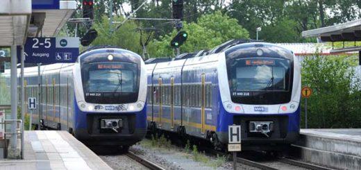Züge der Nordwestbahn auf ihrem Weg durch Bremen. Foto: WR