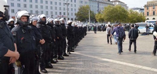 Polizei am Bremer Hauptbahnhof, Foto: Sieler