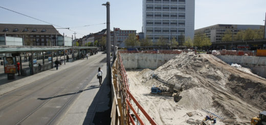 Baustelle am Bahnhof, Foto: Barth