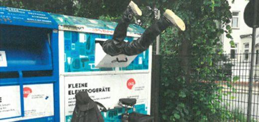 Container-Taucher, Foto: Polizei