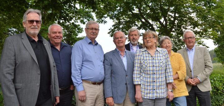 Vorstand der Senioren-Union (v. l.): Karl-Heinz Ahrendt, Bernd Anders, Bodo Becker, Karl Meiners, Fritz Grotum, Ursel Baehsmann, Dörthe Venker und Bodo RenneFoto: Sieler