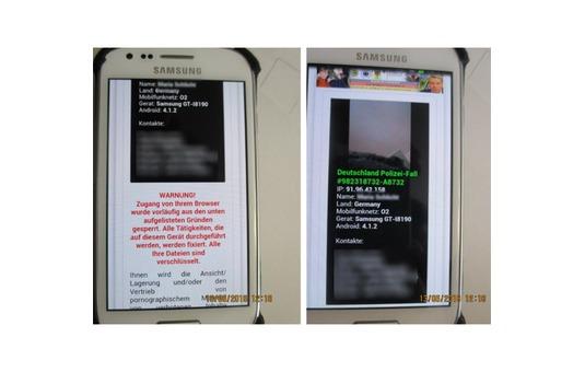 Smartphone Virus Warnung