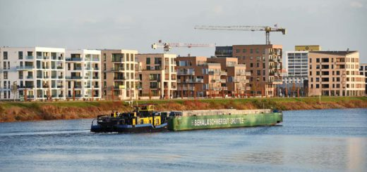 Im Baugebiet an der Marcuskaje entstehen Wohnungen, Foto: WR