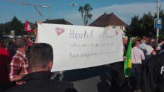 Transparent auf der AfD-Gegendemonstration. Foto: Sieler