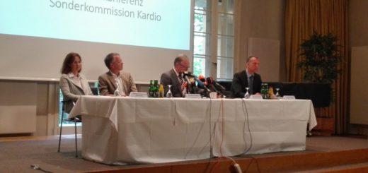 """Bei der Pressekonferenz der Sonderkommission """"Kardio"""" gaben die Ermittler einige erschütternde Erkenntnisse bekannt. Foto: Lürssen"""