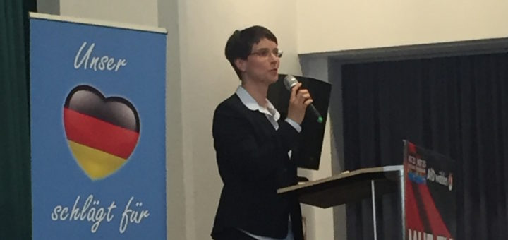 Frauke Petry im Hamme Forum. Foto: Waalkes