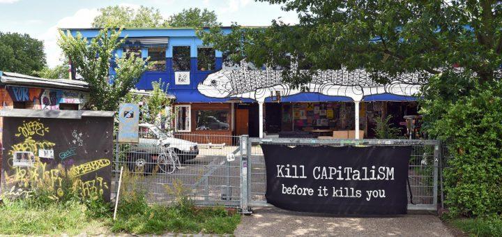 Das alte Sportamt ist besetzt, Foto: Schlie