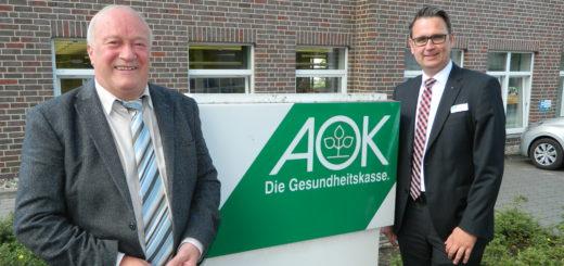 Für Regionaldirektor Andre Kerber (r.) und den Osterholz-Scharmbecker Serviceleiter Hinrich Breden ist ein Rückzug aus der Region kein Thema. Foto: Bosse