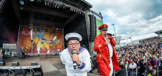 Auch mit dabei: Klaus und Klaus heizen bei der Bremen Olé-Party ein. Foto: pv