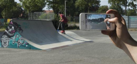 Ob Skaterbahn, Graftanlagen, Sportplatz oder Innenstadt: Den Heranwachsenden wird bei der Gestaltung der Filme freie Hand gelassen. Foto: Meyer